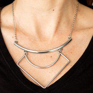 Egyptian Edge Silver Necklace